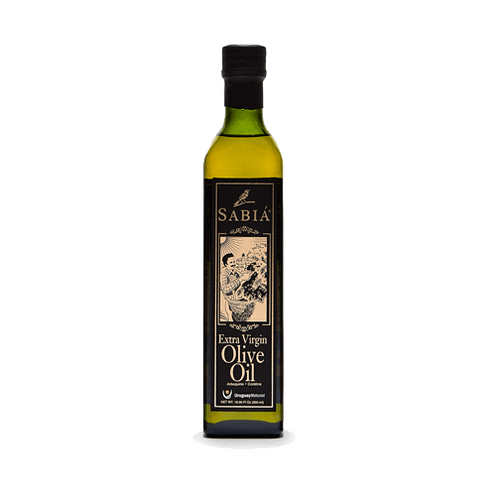 Sabia gourmet unadulterated extra virgin olive oil from Uruguay 500 ml buttery tomato leaf astringent mild piquancy