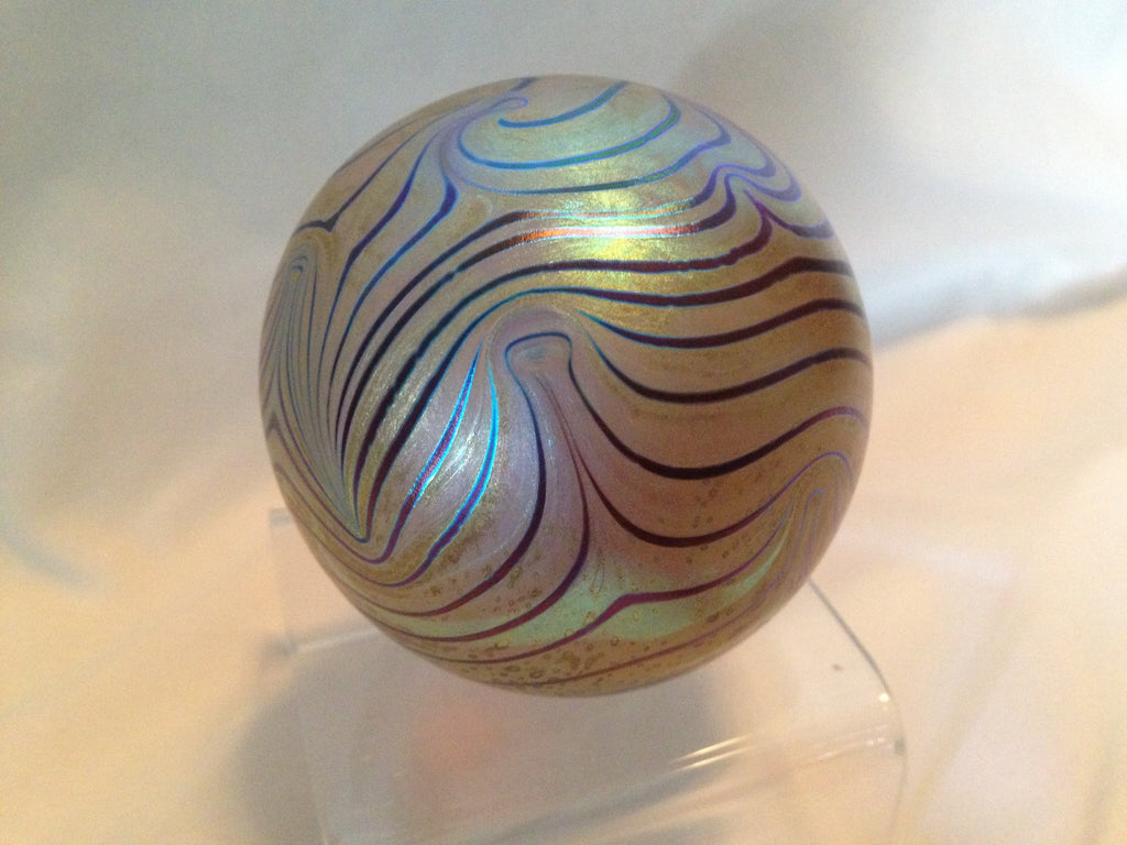 Robert Eickholt Paperweight - Signed 1983