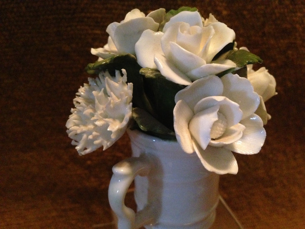 White Roses in Mug Made by Aynsley - England