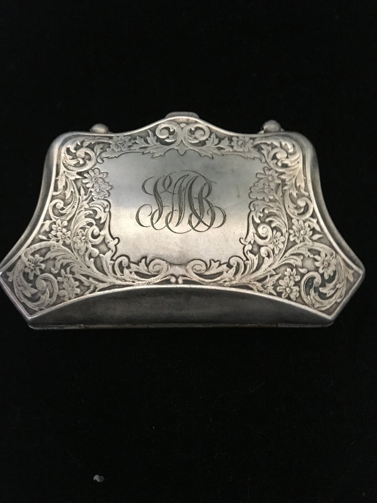 German Silver Coin Purse and Card Holder