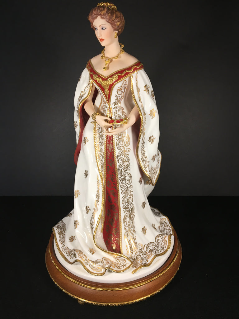 Empress Alexandra Porcelain Figurine from the 1989 Franklin Mint Collection