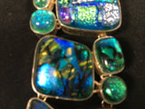 Sterling Silver Dichroic Glass Bracelet