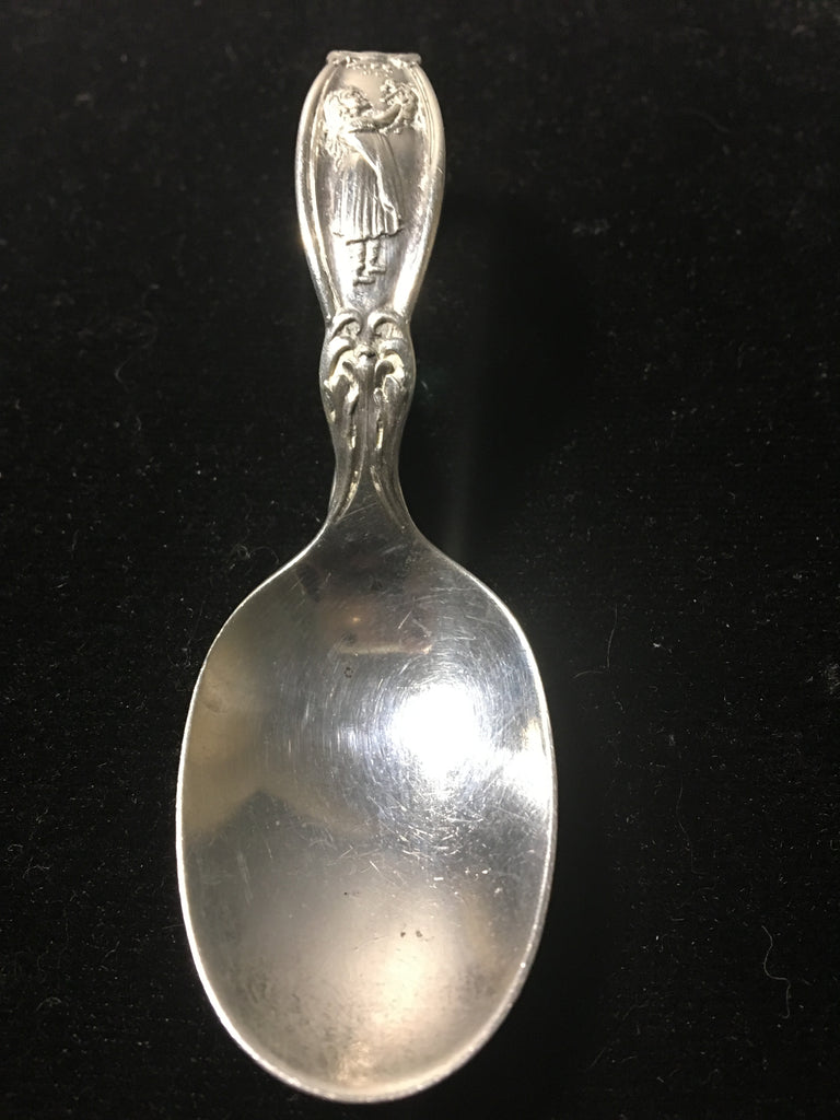 "Darling Sterling Silver ""Kiss Me"" Baby Spoon by R. Wallace & Sons"
