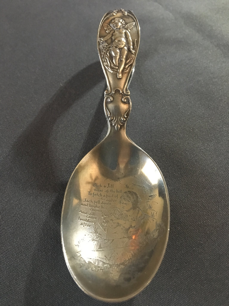 "Adorable Sterling Silver Barton & Reed ""Jack and Jill"" Baby Spoon"