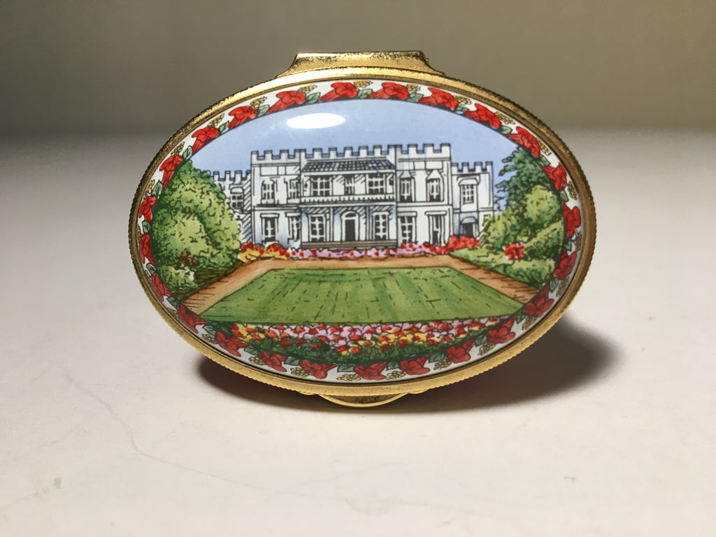 Beautiful Limited Edition Enamel Pill Box by Staffordshire