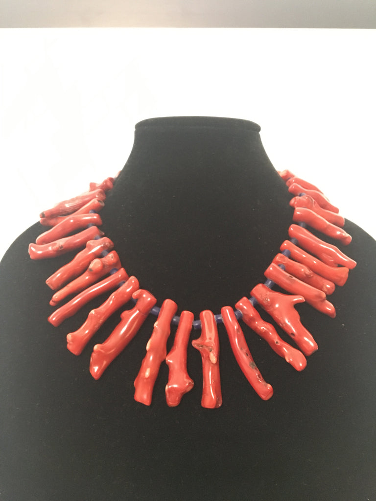 Handcrafted Coral Branch Necklace