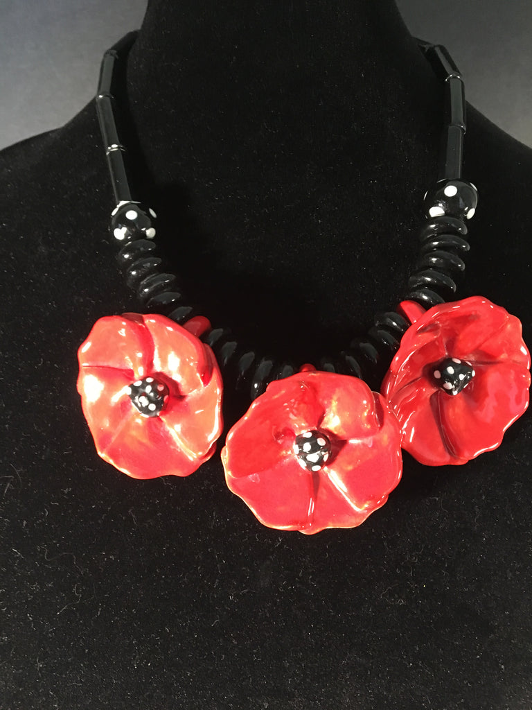 Floral Necklace by Ruby Z