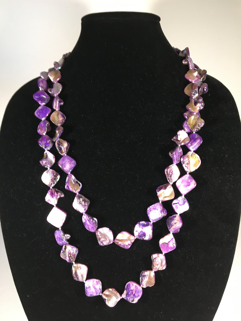 Glistening Mother of Pearl Bead Necklace