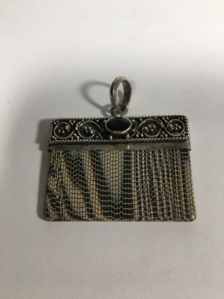Handcrafted Sterling Silver Purse Pendant