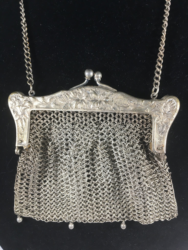 Charming Old German Silver Mesh Purse