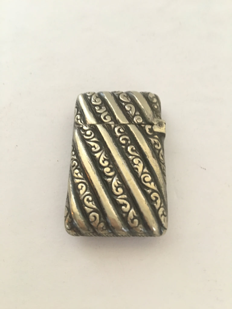 Vintage Art Deco Gold Plated Sterling Silver Match Safe