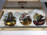 Columbus Tribute set of Christmas Ornaments Made by Komozja Co.of Poland