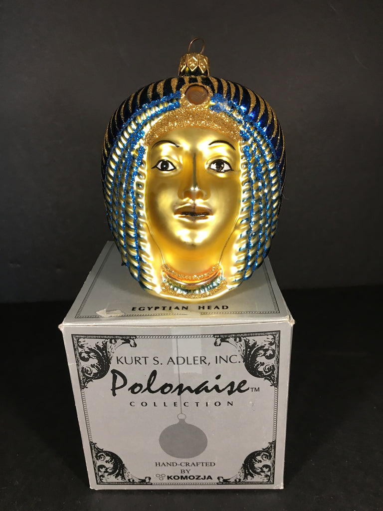 Egyptian Head by Komozja Christmas Ornament