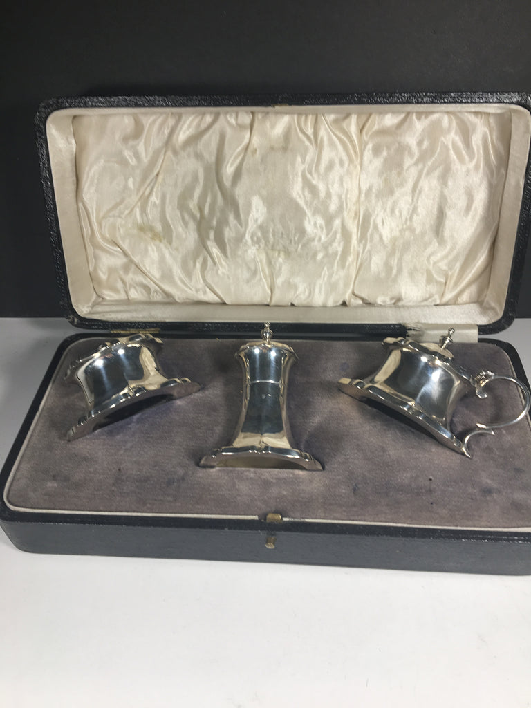 Vintage Silver Condiment Set by Joseph Gloster 1925