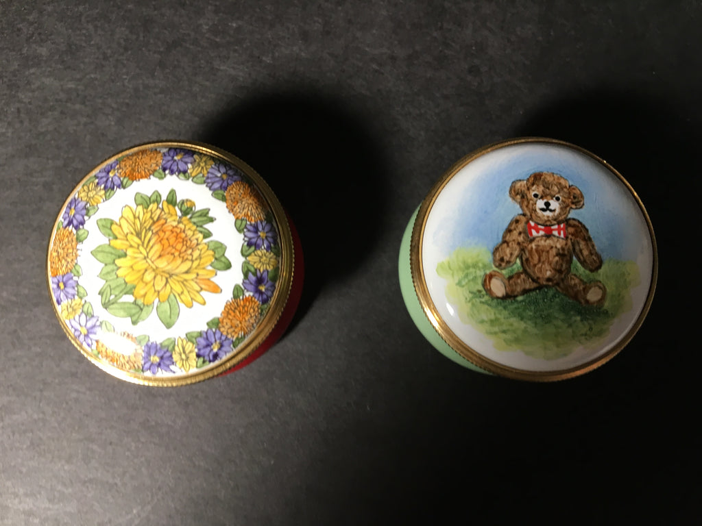 Pair of Staffordshire Enamel Boxes