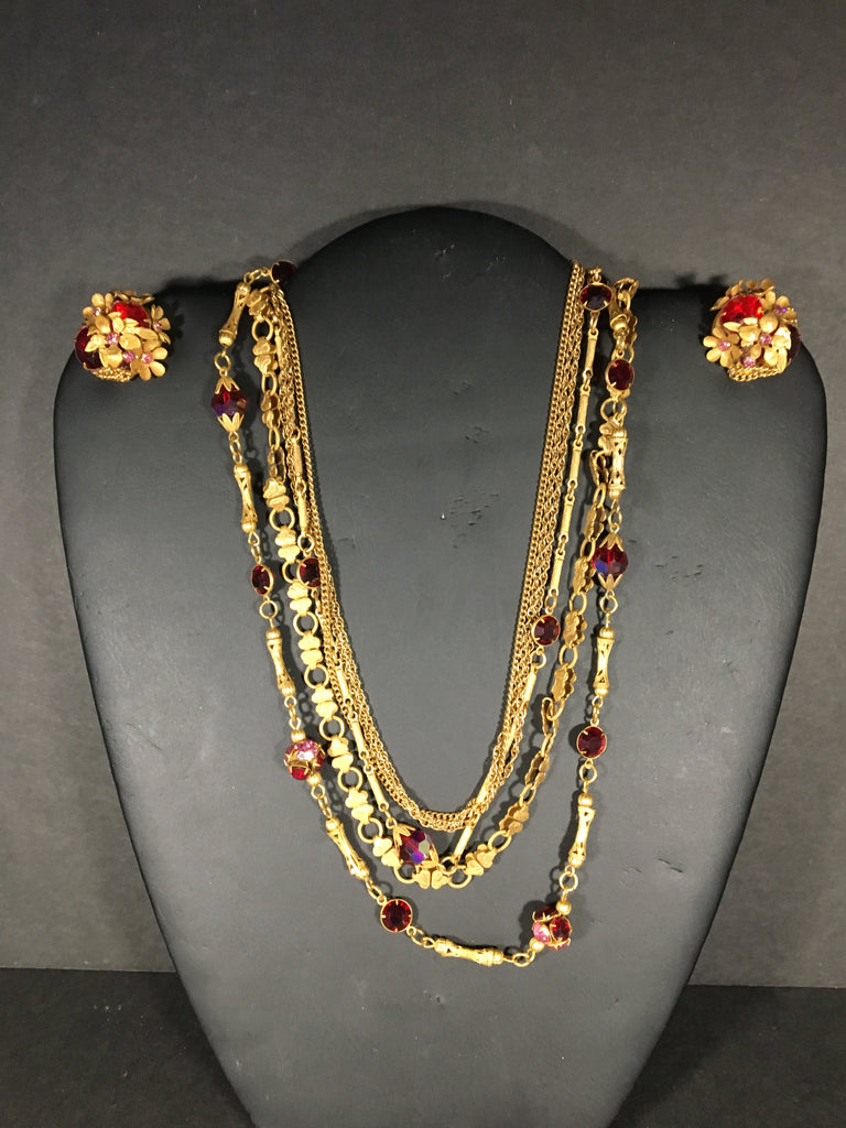 Costume Jewelry Necklace and Earrings Set