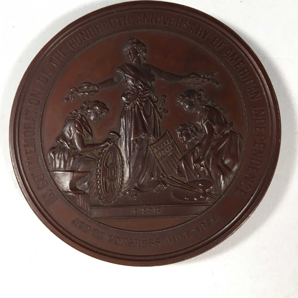 100 Years of American Independence Brass Medallion