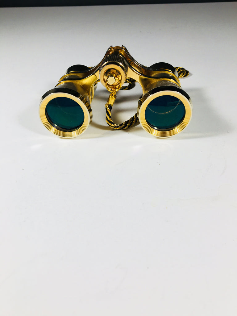 Opera Glasses on a Gold and Black Chain