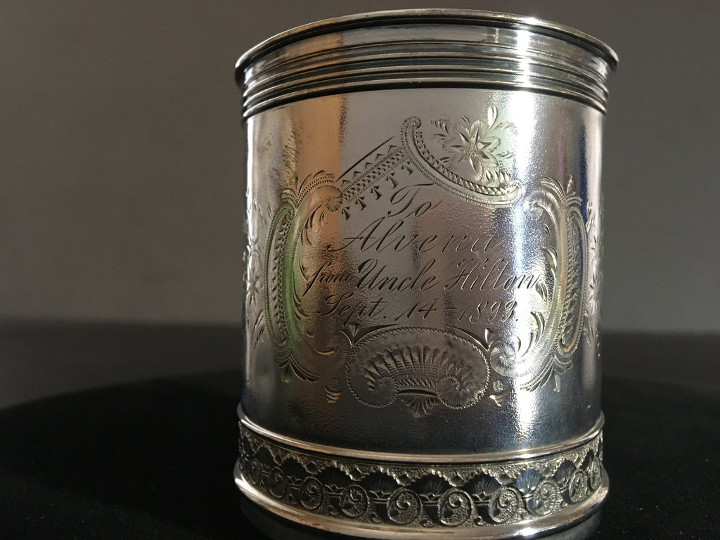 Sterling Silver Gorham Child's Christening Mug - 1892
