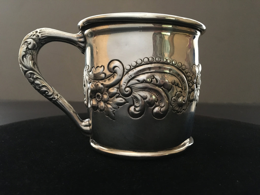Sterling Silver Child's Christening Mug by W.J. Braitsch 1900-1940's