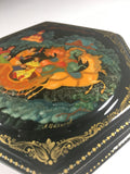 Russian Lacquer Box and Brooch