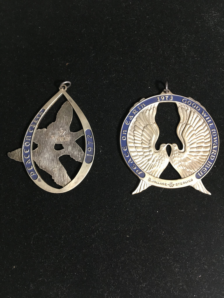 Wallace Sterling Silver Christmas Ornaments