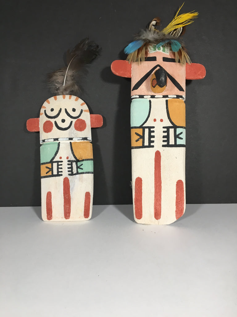 Pair of Native American Southwest Cradle Dolls