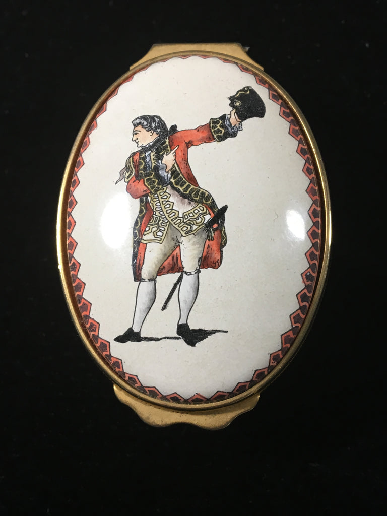 Halcyon Days Enamel Trinket/Pill Box - Much Ado About Nothing