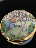 "Franklin Mint ""The Poetry of Love"" Enamel Trinket Box"