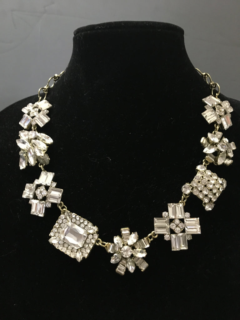 Vintage New Design Costume Crystal Bib Necklace