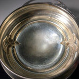 Antique William B. Kerr & Co. Vanity Jar with Art Nouveau Sterling Silver Lid
