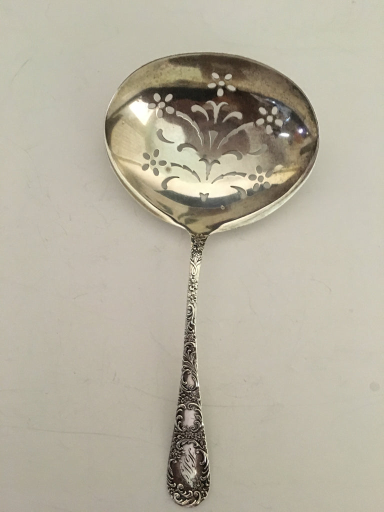 Antique Gorham Sterling Silver Serving Spoon c. 1899