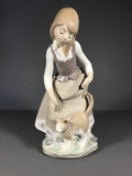 "Wonderful Lladro Figurine # 1187 ""Girl with Cat"" by Juan Huerta"