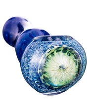 Blue Spoon Pipe with Mushroom Milli