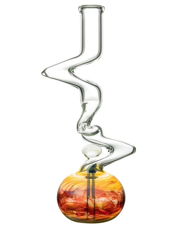 "12"" Raked Zig Zag Bubble Base Bong"