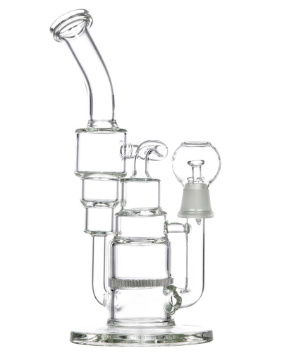 Double Recycler Dab Rig w/ Honeycomb Perc