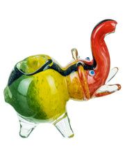 Dichro Striped Rasta Elephant Pipe