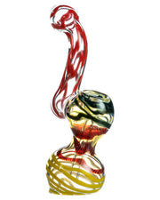 Fumed Sherlock Bubbler with Assorted Swirls