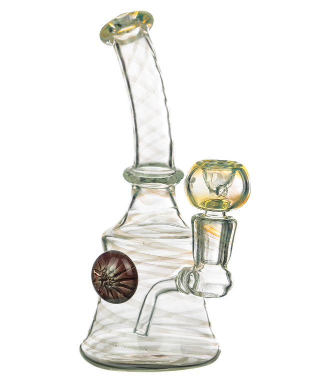 Fumed Swirl Pattern Bong with Glass Milli