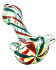 Glass Marble Fumed Spoon Pipe