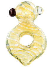 O Ring Fumed Glass Spoon Pipe