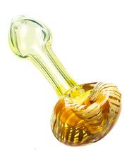 Raked Face Fumed Spoon Pipe