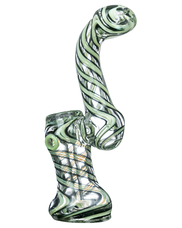 Slyme Accented Spiral and Marble Bubbler