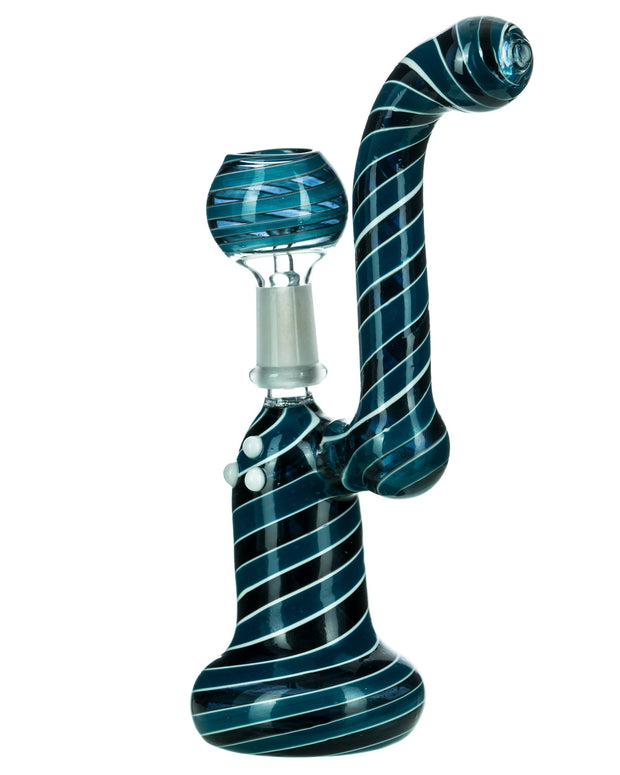 Striped Mini Dab Rig Bubbler