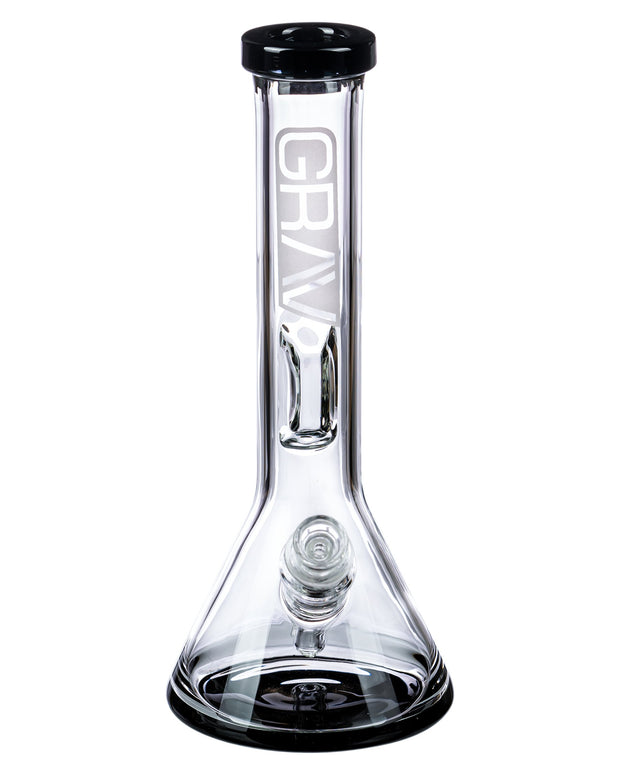 Black Accented Beaker Bong with Inverted Restriction