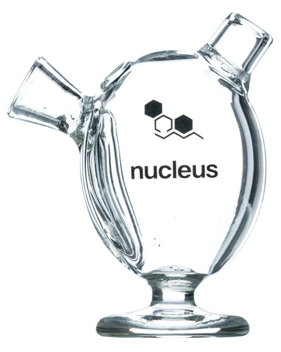 clear glass bubbler