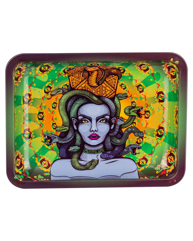 "Ooze Rolling Tray with ""Cursed"" Design in medium"
