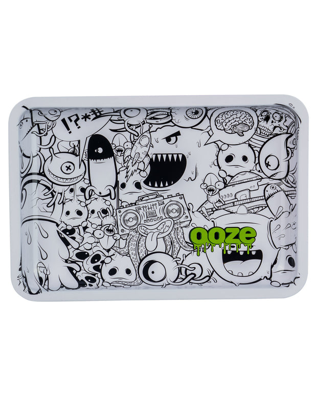 "Ooze Rolling Tray with ""Monstrous"" Design in Small"