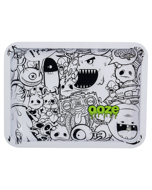 "Ooze Rolling Tray with ""Monstrous"" Design in Medium"