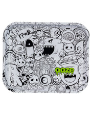 "Ooze Rolling Tray with ""Monstrous"" Design Large"
